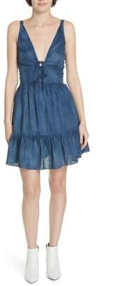 Rebecca Taylor Sleeveless Tissue Denim Dress