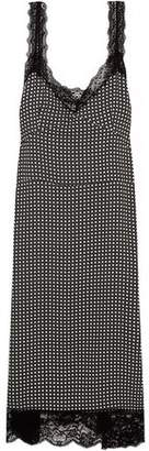 Paul & Joe Lace-Trimmed Printed Crepe Dress