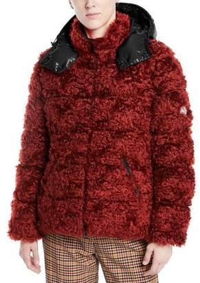 Moncler Badyp Mohair-Blend Puffer Jacket w/ Contrast Hood