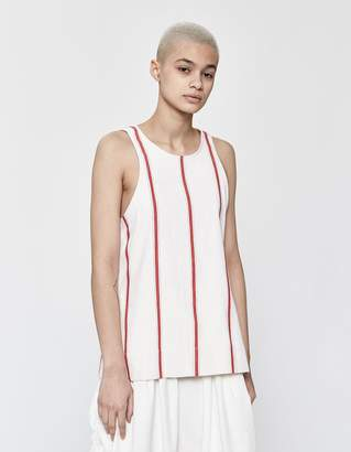 Bassike Striped High Neck Tank