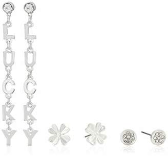 BCBGeneration BCBG Generation Lucky' Linear and Clover Stud Earrings