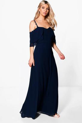 boohoo Boutique Cicely Chiffon Frill Maxi Dress $44 thestylecure.com