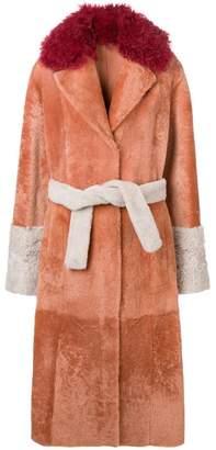 Drome belted long coat