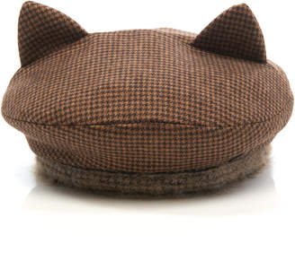 Maison Michel Billy Ears Reversible Wool-Blend Hat