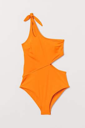 H&M One-shoulder Swimsuit - Orange