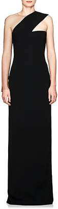 Alexander Wang Women's Sheer-Sleeve Cady Gown - Black