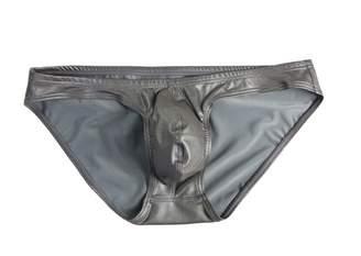 67f81416e54 Trunks BRAVE PERSON Men s Swimming Briefs Bikini Leather Shorts Sexy Tight  Underwear 1162