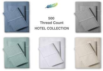 Hotel Collection Luxury 500 TC - 100% Cotton Sateen Stripe Sheet Set - available in multiple colors