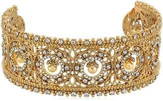 Marchesa Women's Tone/ Multi Large Cuff Bracelet