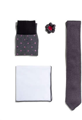 hook + ALBERT Shop the Look Suiting Accessories Set, Charcoal