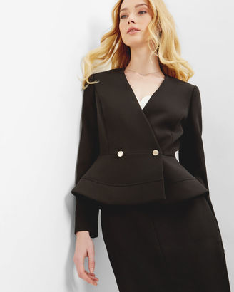 Double breasted peplum jacket $395 thestylecure.com