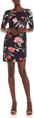 Eliza J Floral Elbow Sleeve Dress