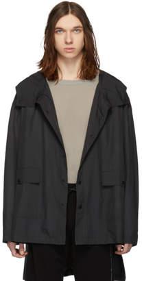 Isabel Benenato Black Oversized Rain Jacket