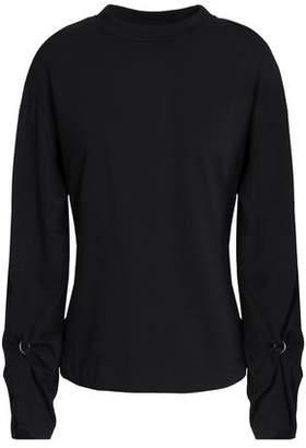 3.1 Phillip Lim Cutout Mélange Cotton-Jersey Top
