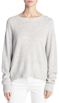 Vince Cashmere-Linen Crewneck Pullover $320 thestylecure.com