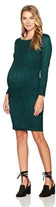 Ingrid & Isabel Women's Maternity Boatneck Lace Dress