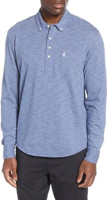 johnnie-O Cadet Stripe Pullover Button-Down Shirt