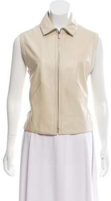 Loro Piana Leather Zip-Up Vest