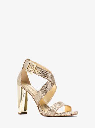 Michael Kors Shia Glitter Mesh Sandal