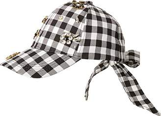 Betsey Johnson Womens Checkered Past Baseball Hat