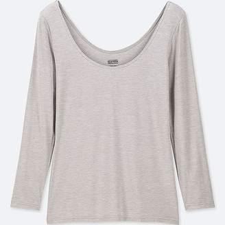 Uniqlo Women's Heattech Ballet Neck Long-sleeve T-Shirt
