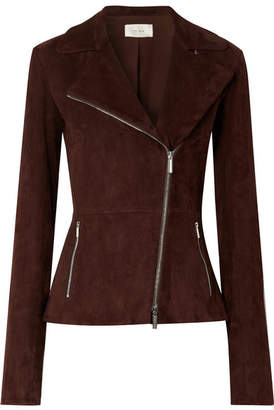 The Row Paylee Suede Biker Jacket - Brown