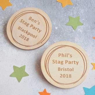 Sweet Pea Design Personalised Stag Do Badges