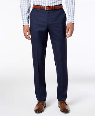 DKNY Men Slim-Fit Blue Windowpane Suit Pants
