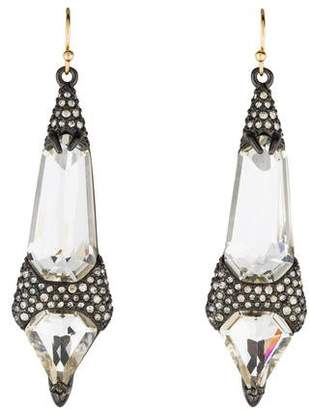 Alexis Bittar Crystal Encrusted Fancy Shield Drop Earrings