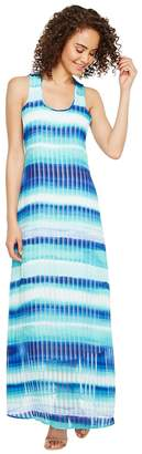 Calvin Klein Stripe Print Maxi Women's Dress