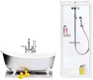 Lundby Smaland Doll's House Shower and Bath Set