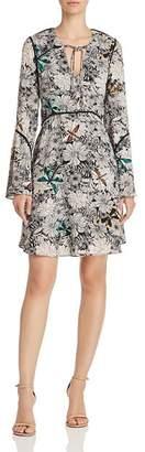 Sam Edelman Printed Bell-Sleeve Dress