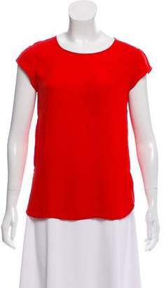 Diane von Furstenberg Silk Scoop Neck Top