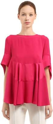 Antonio Berardi Stretch Poplin & Satin Top