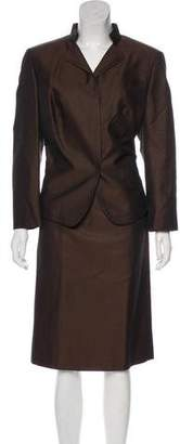 Akris Silk & Wool-Blend Skirt Suit