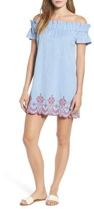 Vineyard Vines Off The Shoulder Embroidered Dress