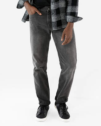 Express Classic Straight Gray 100% Cotton Jeans