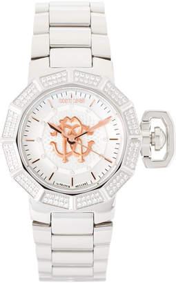 Roberto Cavalli RV1L003M0066 Silver-Tone Watch