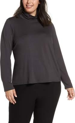 Eileen Fisher Scrunch Neck Stretch Tencel® Lyocell Top