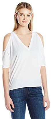Chaser Women's Vintage Jersey Cold Shoulder V Neck Oversized Dolman