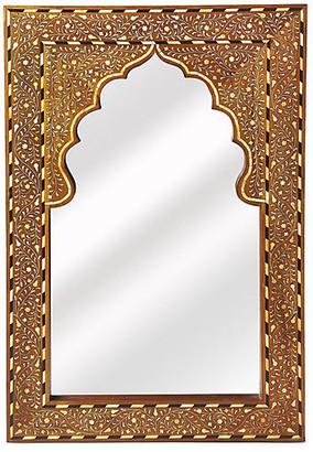 One Kings Lane Lorena Bone-Inlay Wall Mirror - Brown