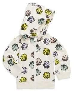 Baby's Bertie Seashell-Print Cotton Hoodie