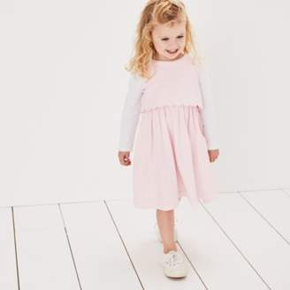 The White Company Cord Scallop Trim Dress Set (1-6yrs)