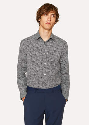 Paul Smith Men's Classic-Fit Navy Ditsy Floral Cotton 'Artist Stripe' Cuff Shirt