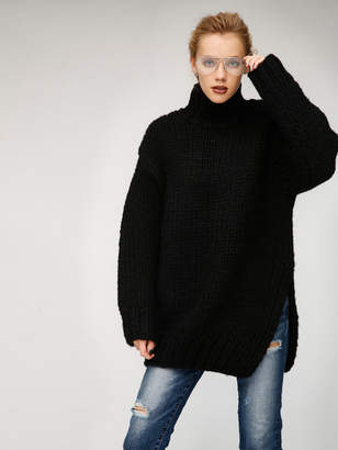 Moussy (マウジー) - マウジー OVER SIZED HI NECK KNIT