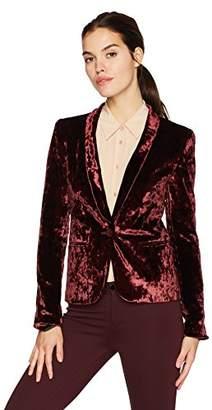 James Jeans Women's Tuxedo Jacket Velveteen Blazer