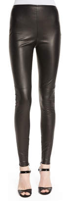 Ralph Lauren Eleanora Leather Leggings, Black