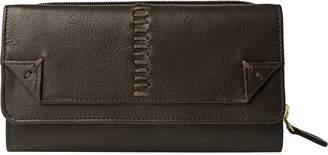 Hidesign Stitch-W3-BR Stitch Trifold Leather Wallet