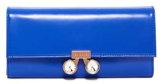 Ted Baker Eleni Crystal Bobble Lock Leather Matinee Wallet