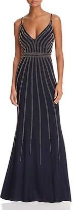 Aqua Avery G Beaded Gown